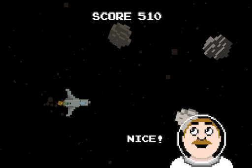 8bit Asteroid Field Screenshot